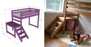 Build Loft Bed With Stairs by Creative Ideas Diy Camp Loft Bed With Stairs I Creative Ideas