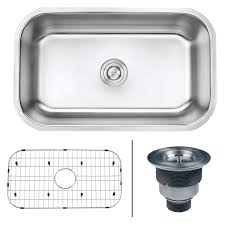 single kitchen sink sizes ruvati rvm4250 undermount 16 gauge 30 u2033 kitchen sink single bowl