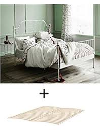 amazon com ikea full size metal country style bed frame with