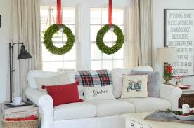our christmas family room farmhouse holiday series beneath as you can see i love the color red especially at christmas it s just not christmas without red for me