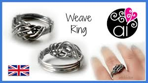 man steel rings images Weave ring stainless steel wire wire wrapping tutorial eng jpg