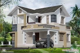 stylish small home design kerala floor plans building plans