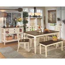 Large Dining Room Whitesburg Large Dining Room Bench Ivory Signature Design By