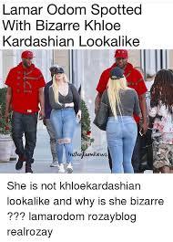Khloe Kardashian Memes - lamar odom spotted with bizarre khloe kardashian lookalike nnews she