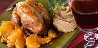 cuisiner les cailles cailles farcies sauce mandarine facile recette sur cuisine actuelle