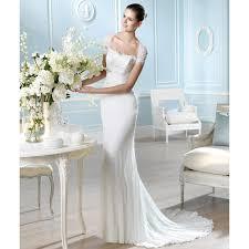 sheath wedding dresses lace and chiffon sleeve shallow sweetheart neckline sheath