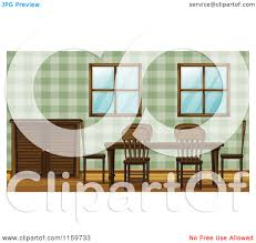 cartoon of a dining room table and chairs royalty free vector
