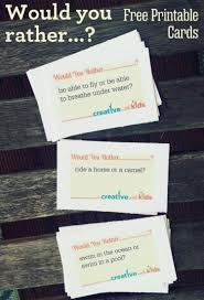 Funny Personal Business Cards Free Printable Would You Rather Game For Summer Free