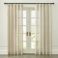 Half Door Curtain Panel Curtain Panels And Window Coverings Crate And Barrel