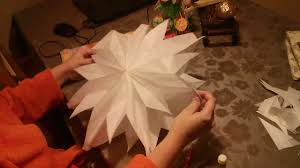 how to make a 3d christmas star out of breakfast bags paper