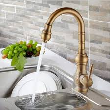 kitchen sink and faucet antique brass kitchen sink faucet with hot and cold mixer