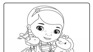 awesome coloring pages doc mcstuffins pertaining motivate