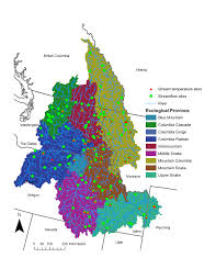 Columbia River Map Cold Water Fish Habitat Affected By Warmer Climate In The Columbia