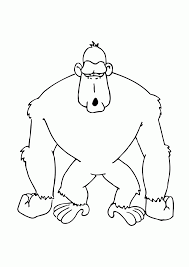 cute gorilla coloring pages coloring home