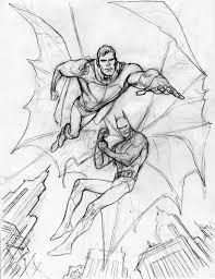 kevin nowlan superman batman commission