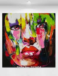 5 piece canvas wall art hand painted palette knife oil best sad mood mural art palette knife woman figure picture hand