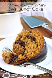 pumpkin chocolate swirl bundt cake let u0027s dish recipes