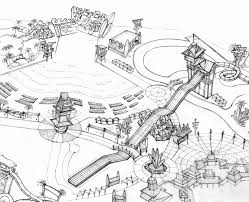 birds eye view map coloring page free printable coloring pages