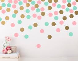 Polka Dot Wall Decal Etsy - Polka dot wall decals for kids rooms