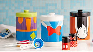 mickey and friends kitchen canisters from disney store inside
