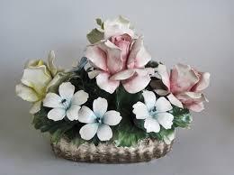 capodimonte basket of roses antique italian capodimonte style porcelain roses basket of