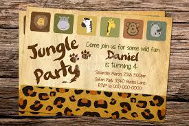 printable jungle safari birthday invitation template zoo