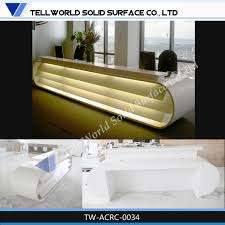 Reception Desk Sale by Modern Boat Shape Acrylic Artificial Marble Reception Desk For