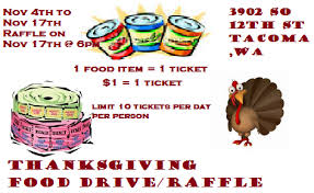 thanksgiving raffle food drive treasure s raffle food