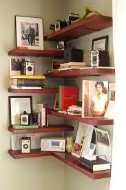 floating corner shelf plans oak shelves kitchen easy best leaning