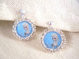 halloween earrings clip on or pierced earrings frozen princess elsa earrings