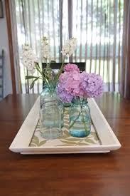 Dining Table Centerpiece Tray Put Fabric Under Glass Of Inexpensive Picture Frame To Create A
