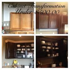 Staining Kitchen Cabinets Cost Kitchen Cabinet Redo For 500 00 Hometalk