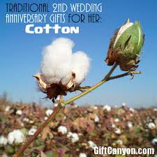 2nd wedding anniversary gifts for traditional 2nd wedding anniversary gifts for cotton gift