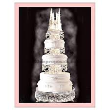 wedding cake stand wedding cinderella castle cake stand set of 3 and a castle