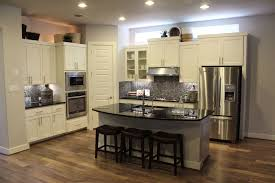 Staining Kitchen Cabinets Darker by Stained Kitchen Cabinets Standard Eased Edge White Granite