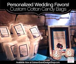 cotton candy wedding favor custom cotton candy bags with personalized labels now available