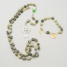 rosary bead bracelet connemara marble rosary bracelet set