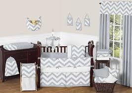 Grey And White Crib Bedding Grey U0026 White Chevron Print Crib Bedding Set Blanket Warehouse