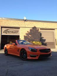 orange mercedes fire orange mercedes sl63 vehicle customization shop vinyl car