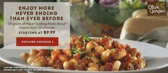 Olive Garden Never Ending Pasta Bowl Is Back - olive garden never ending pasta bowl is back