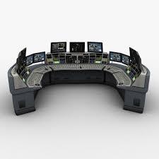 Control Room Desk Room 3d Max