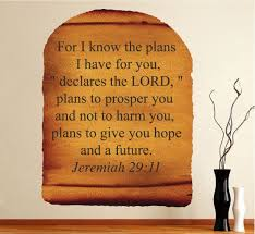 scripture wall decal bible scrolls wall quote jeremiah 29 11