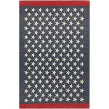 Red White And Blue Rugs Americana Picnic All Stars Flag Area Rug Imported Outdoor
