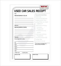 car sale receipt template 11 free word excel pdf format