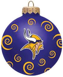 vikings 3 team swirl ornament