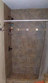 rectangular ceiling mount shower curtain rod bathroom this set