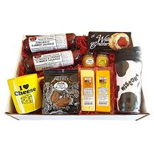 sausage gift baskets bloody supplies deluxe wi cheesehead gift basket features