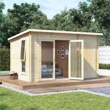 wooden log cabin garden summer house wooden log cabin side storage shed family room