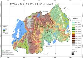 World Elevation Map by Rwanda Elevation Map Cgis