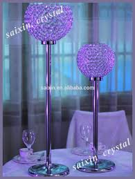 table centerpieces with candles crystal globe candles holder spherical crystal for wedding